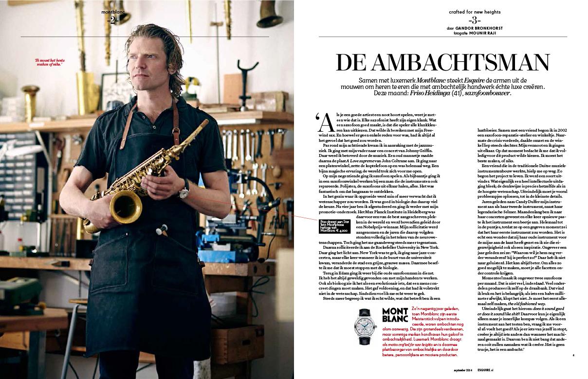Full feature in Dutch Esquire Magazine