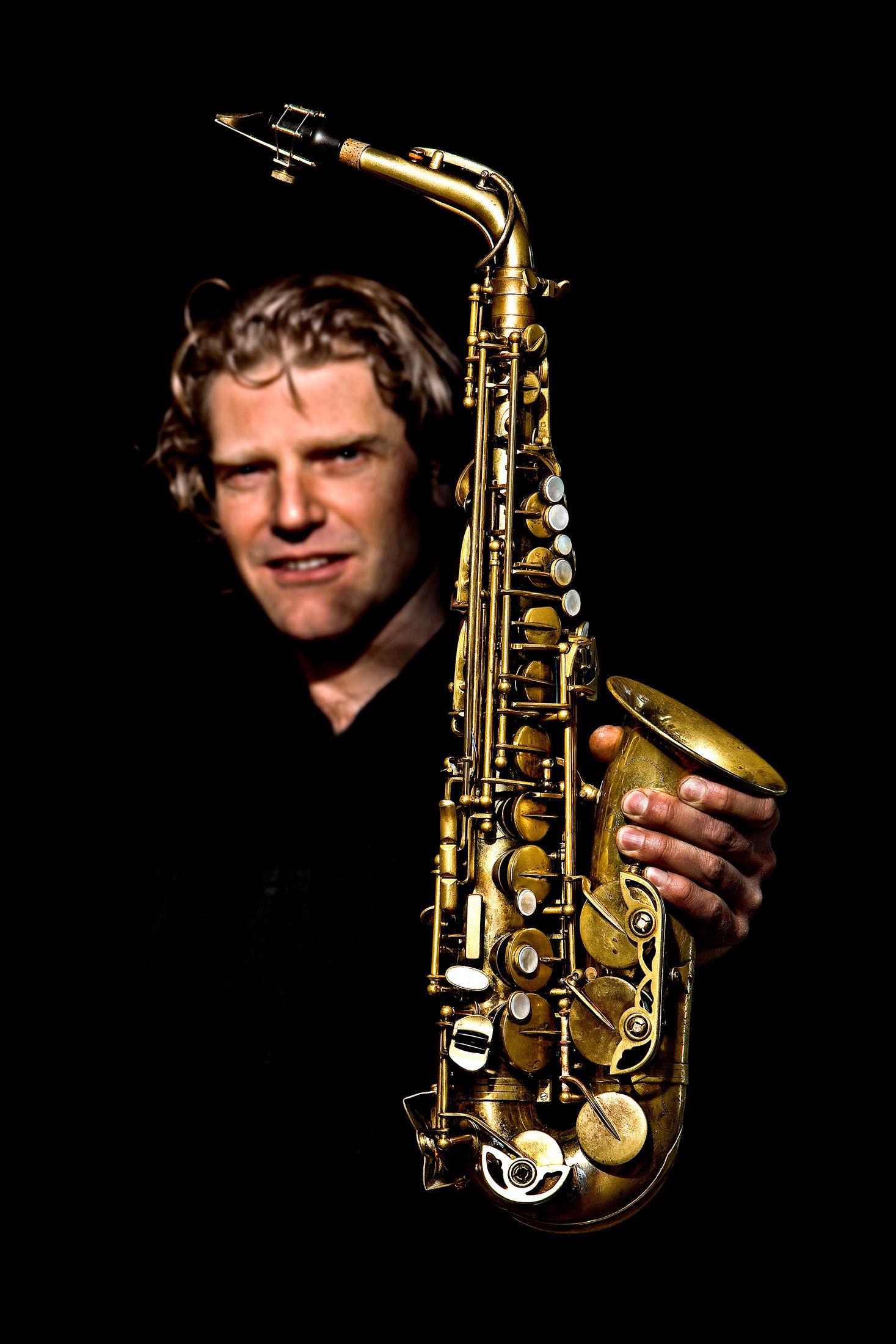 Friso holding Free Wind Alto saxophone