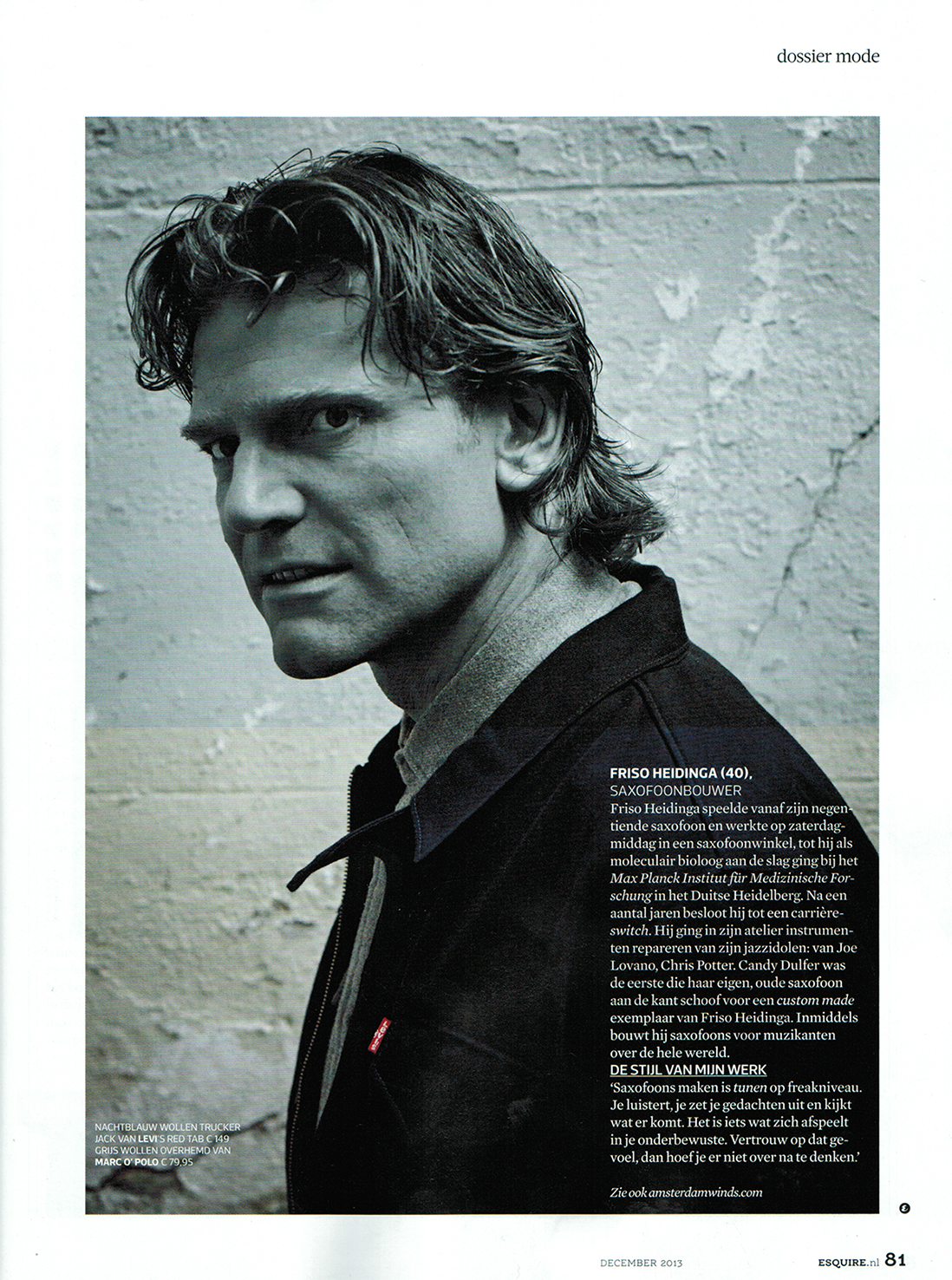 Friso Heidinga in Esquire Magazine
