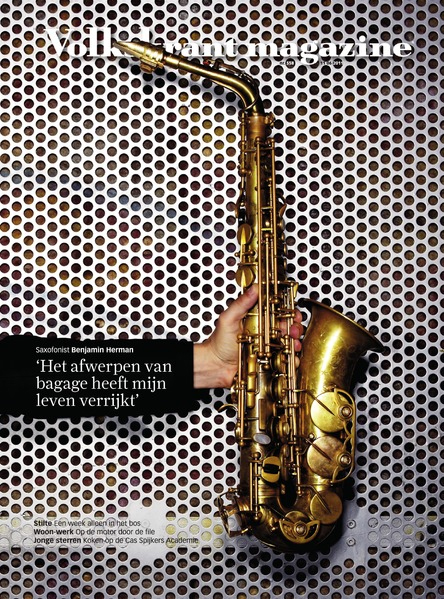 Amsterdam Free Wind Alto Saxophone on cover Volkskrant Magazine