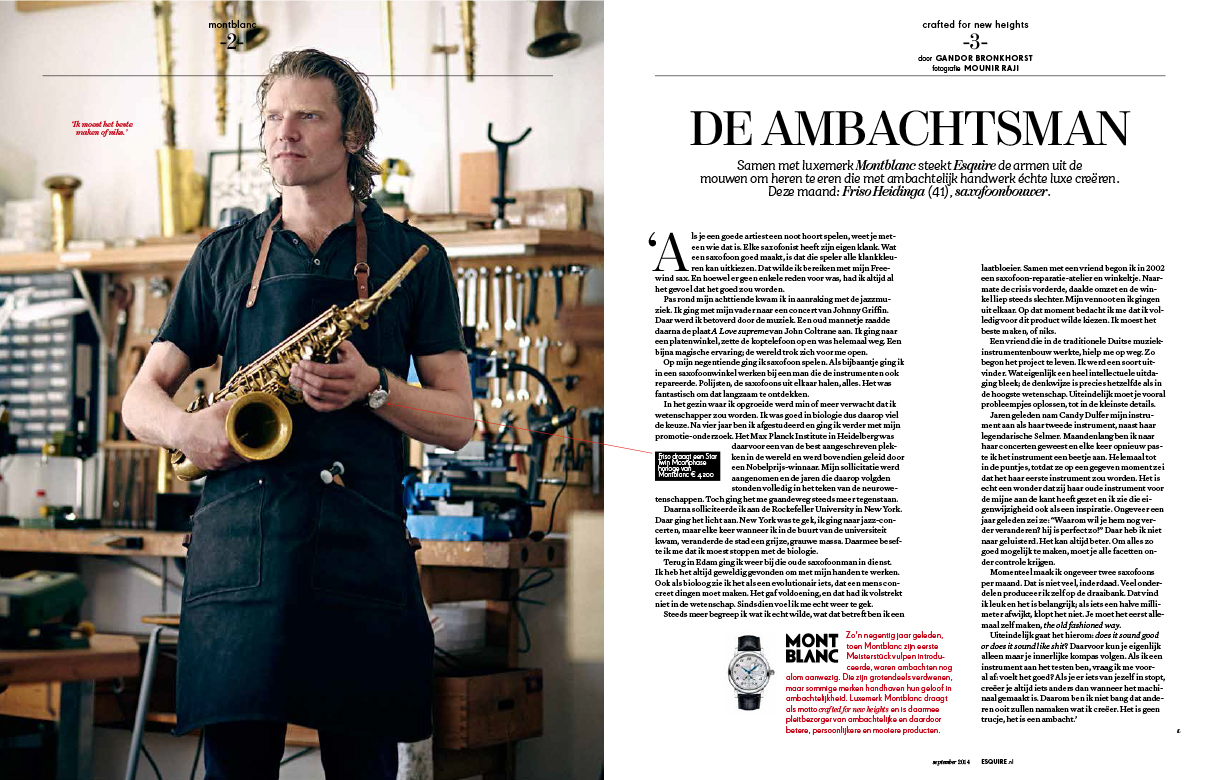 Full feature in Dutch Esquire Magazine