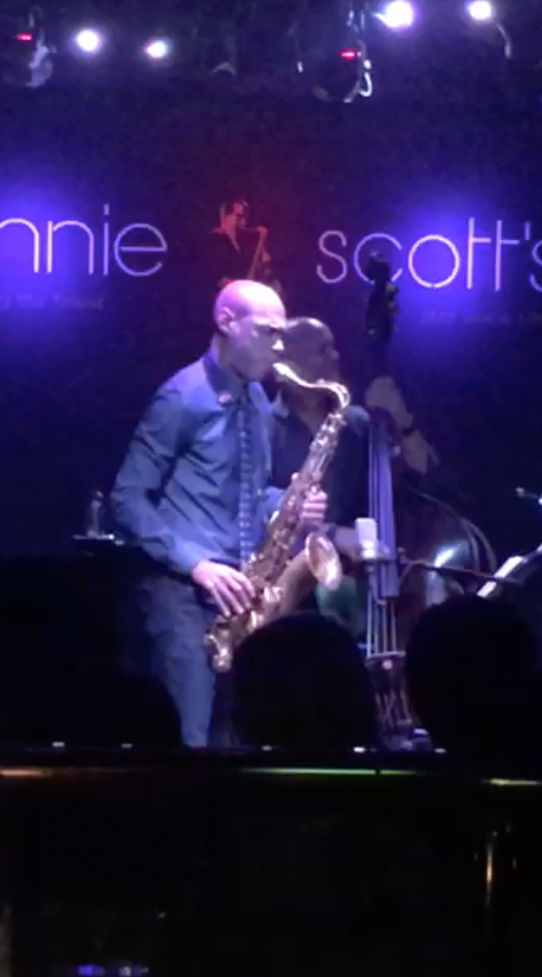 Joshua Redman playing the Amsterdam Winds tenor saxophone in London