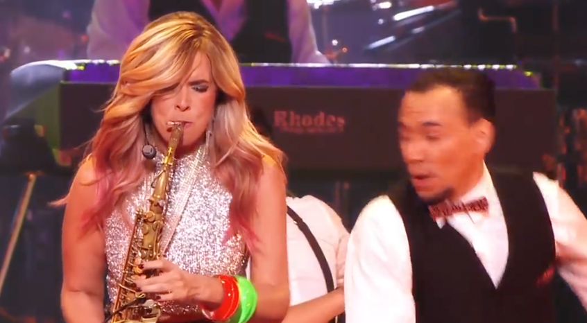 Candy Dulfer with Ladies of Soul on Amsterdam Free Wind alto saxophone