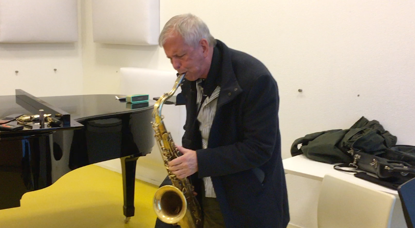 Dick Oatts playing the Amsterdam Winds tenor saxophone