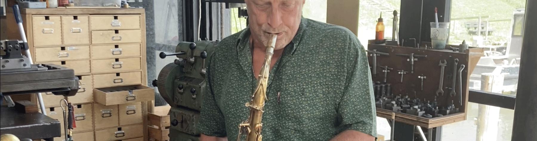 Ben van den Dungen and our Free Wind tenor saxophone